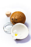 Coconut and coconut oil Stock Image