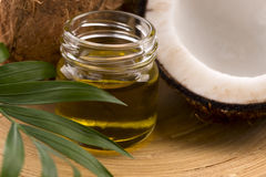 Coconut and coconut oil Stock Photos