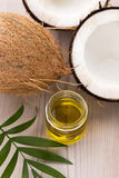 Coconut and coconut oil. Coconut and oil. food ingredients Stock Image