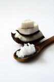 Coconut with coconut oil royalty free stock photos