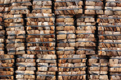 Coconut coir stack as background Stock Image