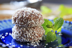 Coconut confections Royalty Free Stock Images