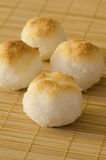 Coconut cookies as balls Royalty Free Stock Photo