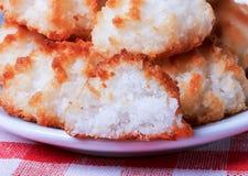 Coconut cookies, closeup Stock Images