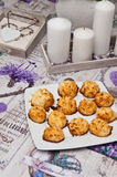 Coconut cookies. Food photography still life: homemade coconut cookies or cakes Stock Photo