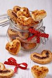 Coconut cookies heart shape Royalty Free Stock Photos