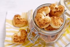 Coconut cookies heart shape Royalty Free Stock Image