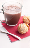 Coconut cookies and hot chocolate Royalty Free Stock Photo