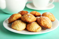 Coconut cookies on a plate Stock Images