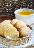 Coconut and cornmeal biscuits Stock Photo