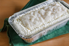 Coconut cream cake. Royalty Free Stock Image