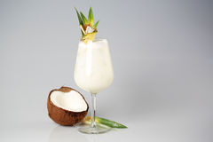 Coconut cream cocktail. In studio Stock Image