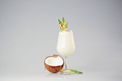 Coconut cream cocktail. In studio Royalty Free Stock Photography