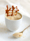 Coconut cream dessert Royalty Free Stock Images