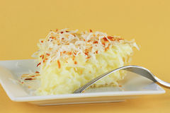 Coconut Cream Pie Royalty Free Stock Photos