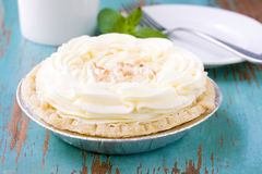 Coconut cream pie Stock Images