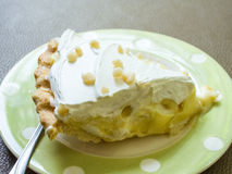 Coconut cream pie Royalty Free Stock Images