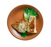 Coconut Crusted Fish Royalty Free Stock Image