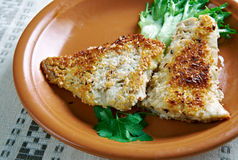 Coconut Crusted Fish Royalty Free Stock Photography