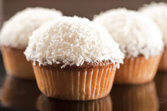 Coconut cupcake Royalty Free Stock Photos