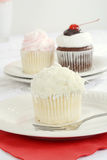 Coconut cupcake Stock Photo