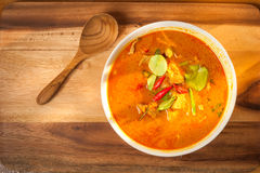 Coconut Curry pork. On the table Royalty Free Stock Photo