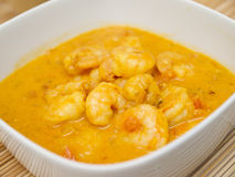Coconut curry with shrimp Royalty Free Stock Photo