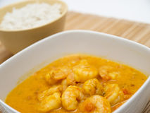 Coconut curry with shrimp Royalty Free Stock Image