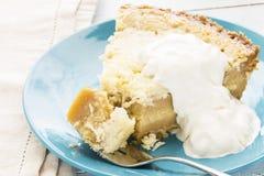 Coconut Custard Pie Stock Image