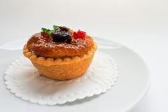 Coconut custard tart. royalty free stock images