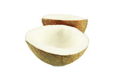 Coconut cut. On a white background Stock Photography