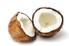 Coconut cut in half Stock Photography
