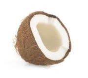 Coconut cut in half Royalty Free Stock Photos
