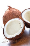 Coconut cut in half Stock Image