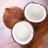 Coconut cut in half Royalty Free Stock Images