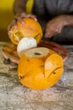 Coconut cutting Stock Images