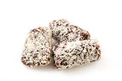Coconut date bars Stock Images
