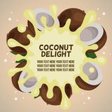 Coconut delight splash. Template vector illustration vector illustration