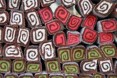 Coconut dessert rolls backgrounds Stock Image
