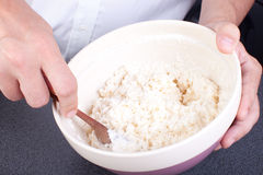 Coconut dough mix Royalty Free Stock Photos