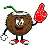 Coconut Drink with Foam Finger Royalty Free Stock Photography