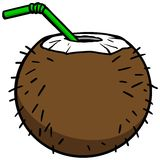 Coconut Drink Icon Royalty Free Stock Photo