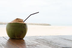 Coconut drink relax rest holiday beach sand ocean. Coconut drink relax rest holiday beach sand Stock Images
