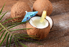 Coconut drink Stock Image