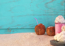 Coconut Drinks Stock Photography