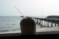 Coconut Drinks Royalty Free Stock Images