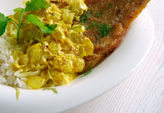 Coconut Fish Curry Stock Photos