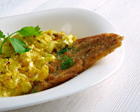 Coconut Fish Curry Stock Photography