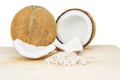 Coconut Flesh and Grated Coconut II Royalty Free Stock Photography