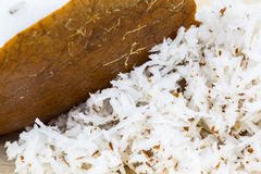 Coconut Flesh and Grated Coconut IV Royalty Free Stock Images